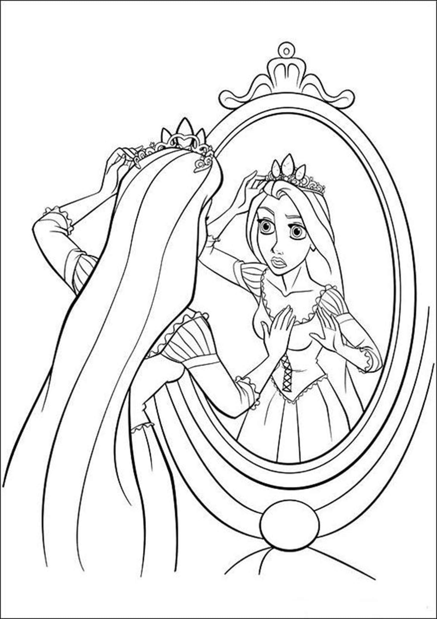 Free Easy To Print Tangled Coloring Pages In 2020 Tangled Coloring Pages Coloring Pages Tracing Worksheets Preschool