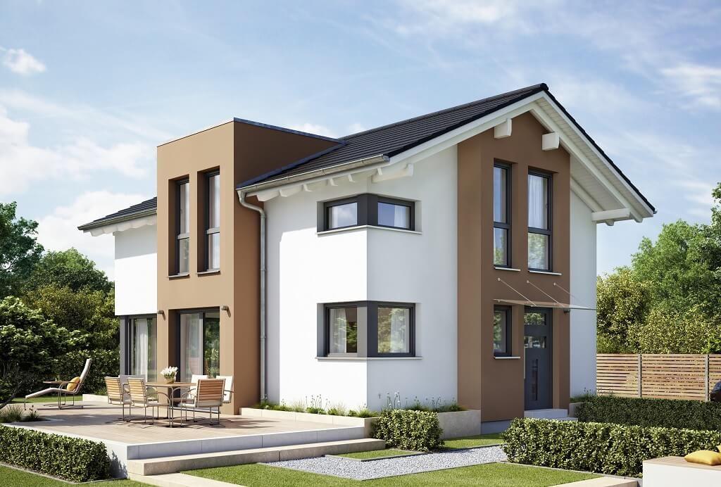 Einfamilienhaus Modern Mit Satteldach Giebel Architektur Querhaus