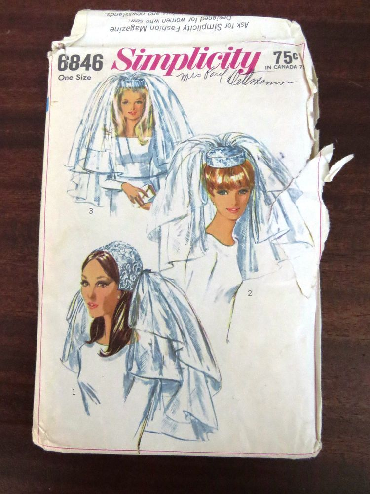Bridal veils pattern by simplicity 6846 two bridal