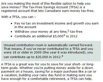 "Tax Free Savings Account: everyone should have one! ""Get busy researching accounts that pay more. Ask friends and family where they have their accounts and what they earn. The smart ones will be very willing to brag. Open up one of those high interest savings accounts and start earning a better rate of return on your hard-earned savings."" -Gail Vaz Oxlade"