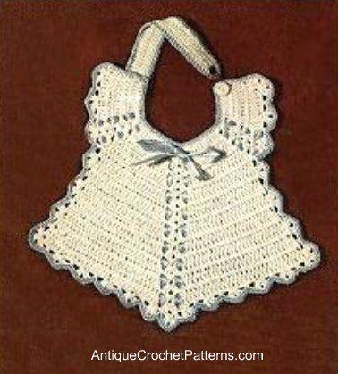 Unique Baby Bib Pattern - Vintage Crochet Baby Bib | Fairy godmother ...