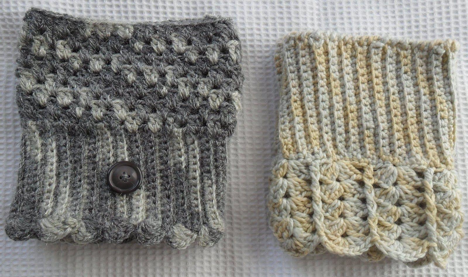 Moderno Patrón De Crochet Libre Para Las Botas Elaboración - Manta ...