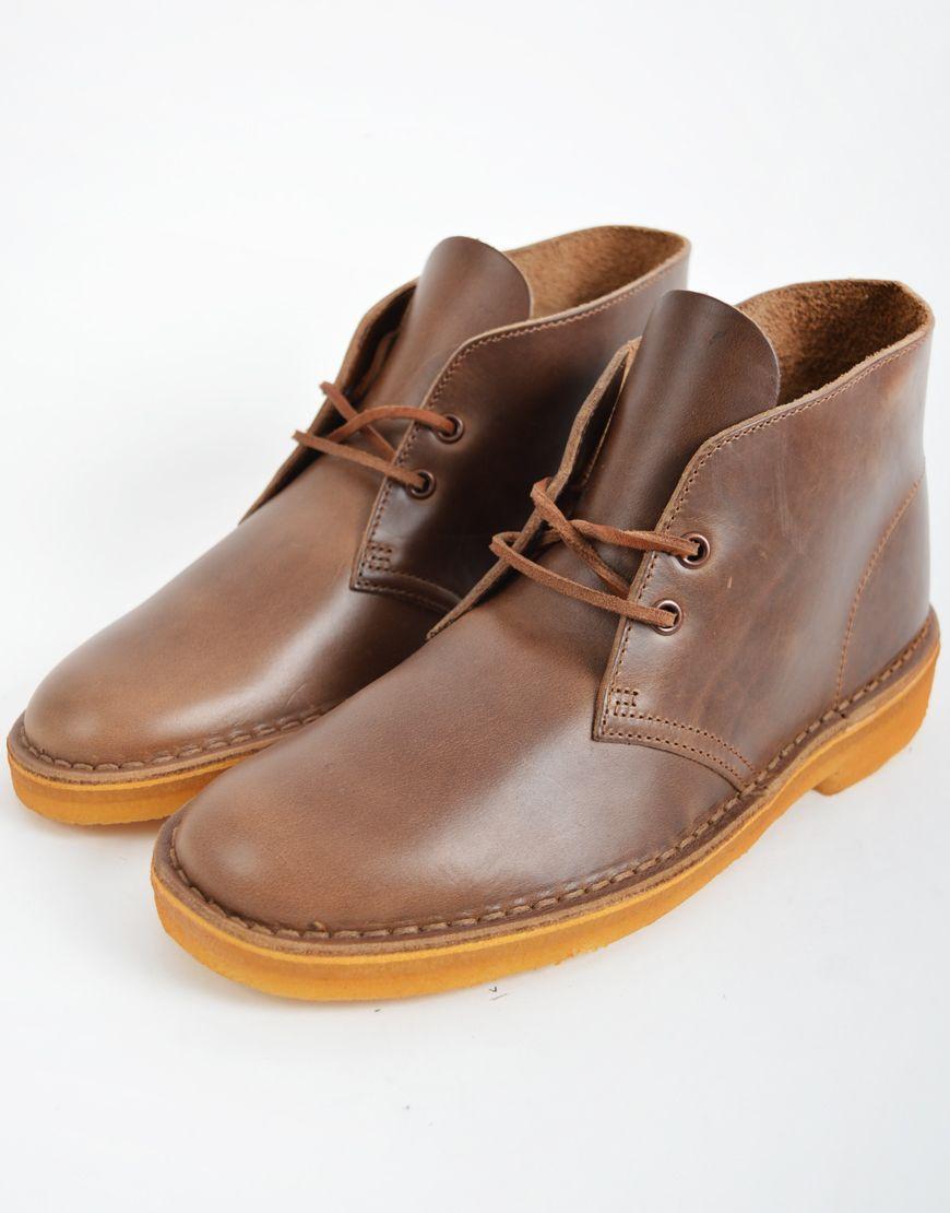 Men'S Clarks Camel Leather Boot Desert