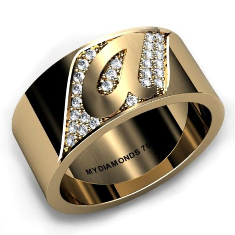 Various Unique Designs Of Men Yellow And White Gold Wedding Rings