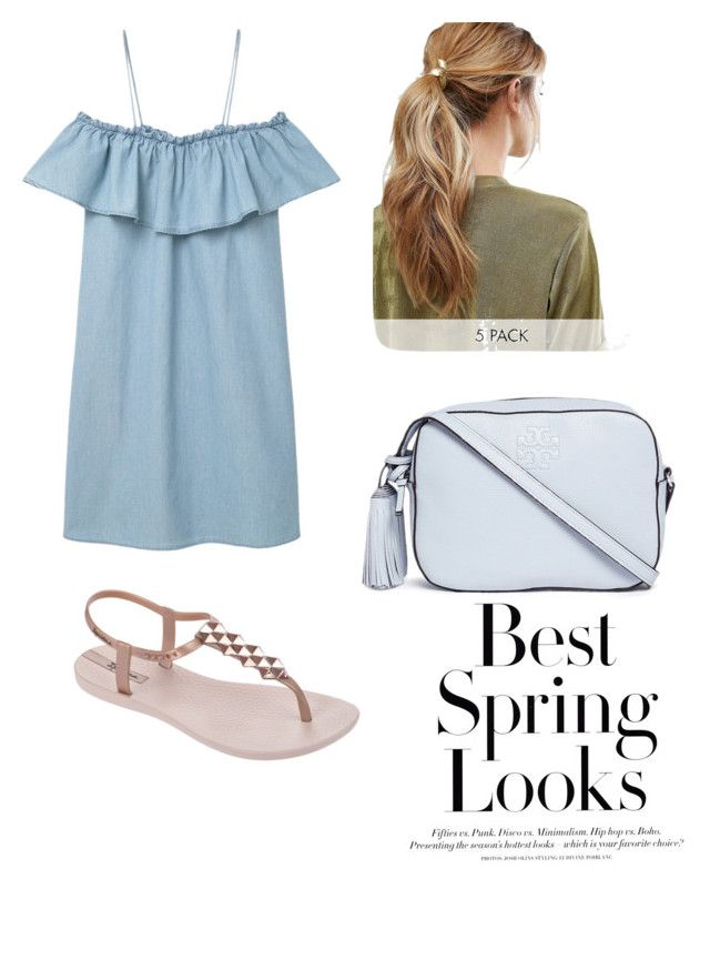 """spring"" by jabieva on Polyvore featuring MANGO, IPANEMA, Tory Burch, Kitsch and H&M"
