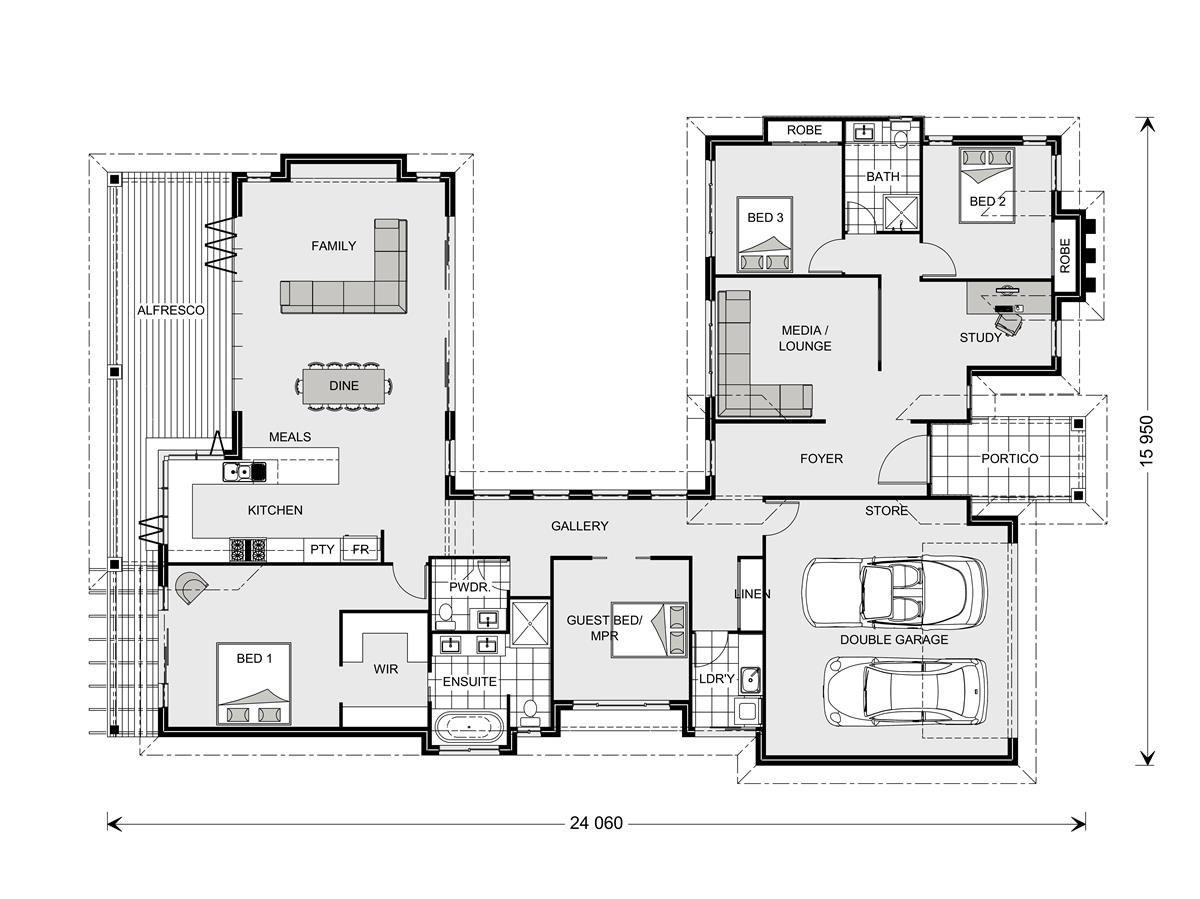 Gj Gardener The Mandalay Dream House Plans Modern Style House Plans House Floor Plans