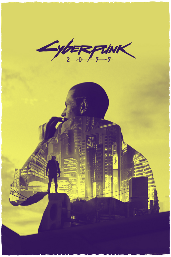 Cyberpunk 2077 Double Exposure Hoodie Yellow Art Print By Glyphz X Small In 2020 Cyberpunk 2077 Cyberpunk Cyberpunk Aesthetic
