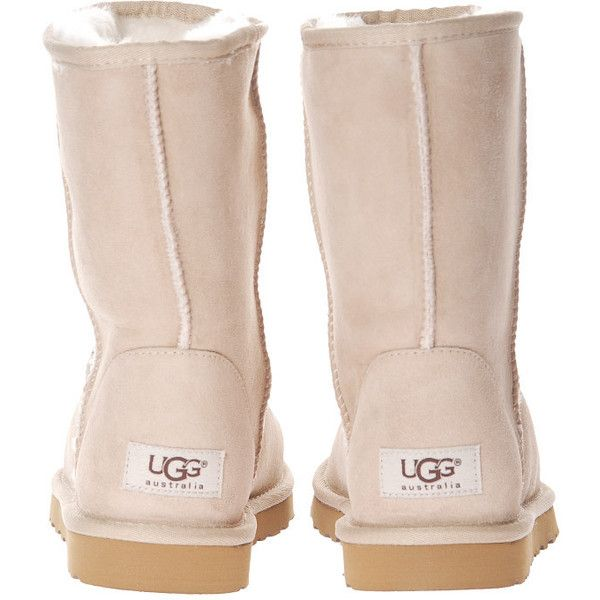 UGG Boots Classic Short Sand ($235) ❤ liked on Polyvore featuring shoes, boots