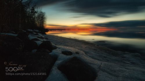 406 sec by TuomoArovainio  lake reflection night dark long exposure finland suomi kevät LE höytiäinen tuomo arovainio 406 sec 4