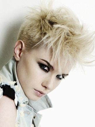 punk blond short hair   Hair   Pinterest   Blonde hairstyles ...