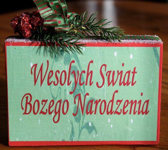 Merry Christmas In Polish.Wesolych Swiat Polish Christmas Greeting By Signsoftheseason