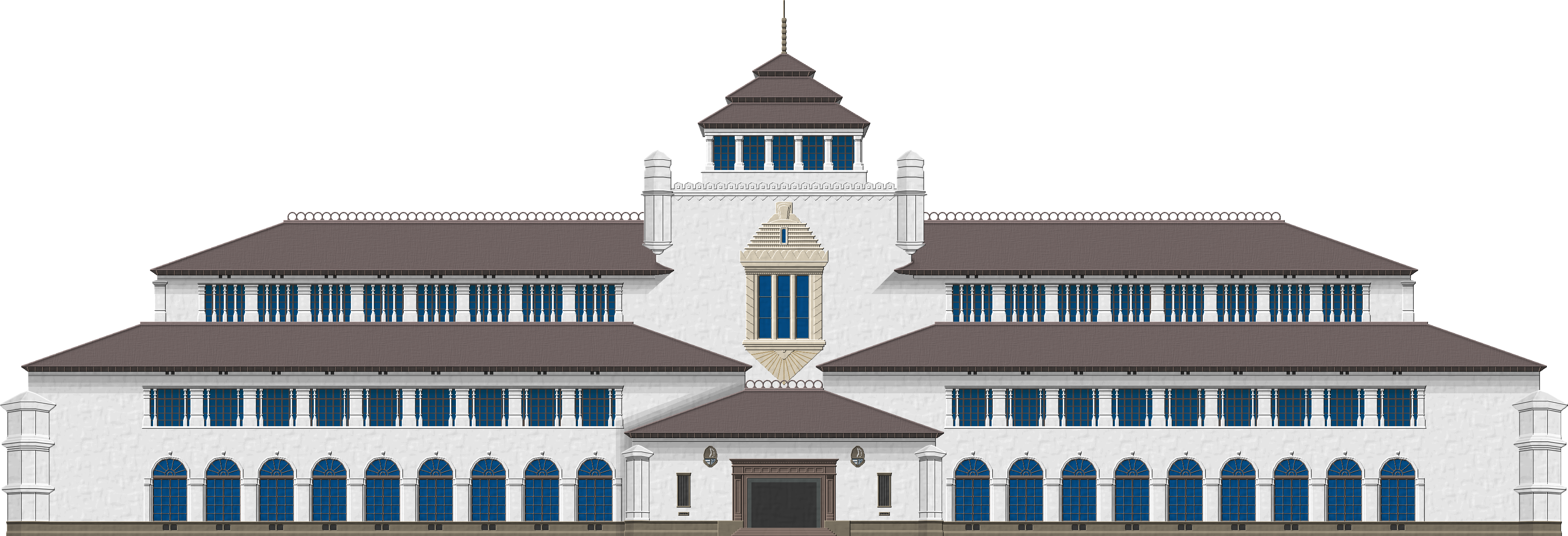 Gedung Sate Indonesian Art Vernacular Architecture Dutch East Indies
