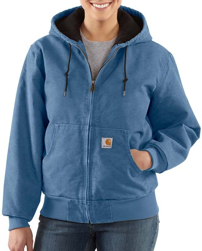 Carhartt Women s French Blue Quilted Active Hooded Jacket  1fa59e499