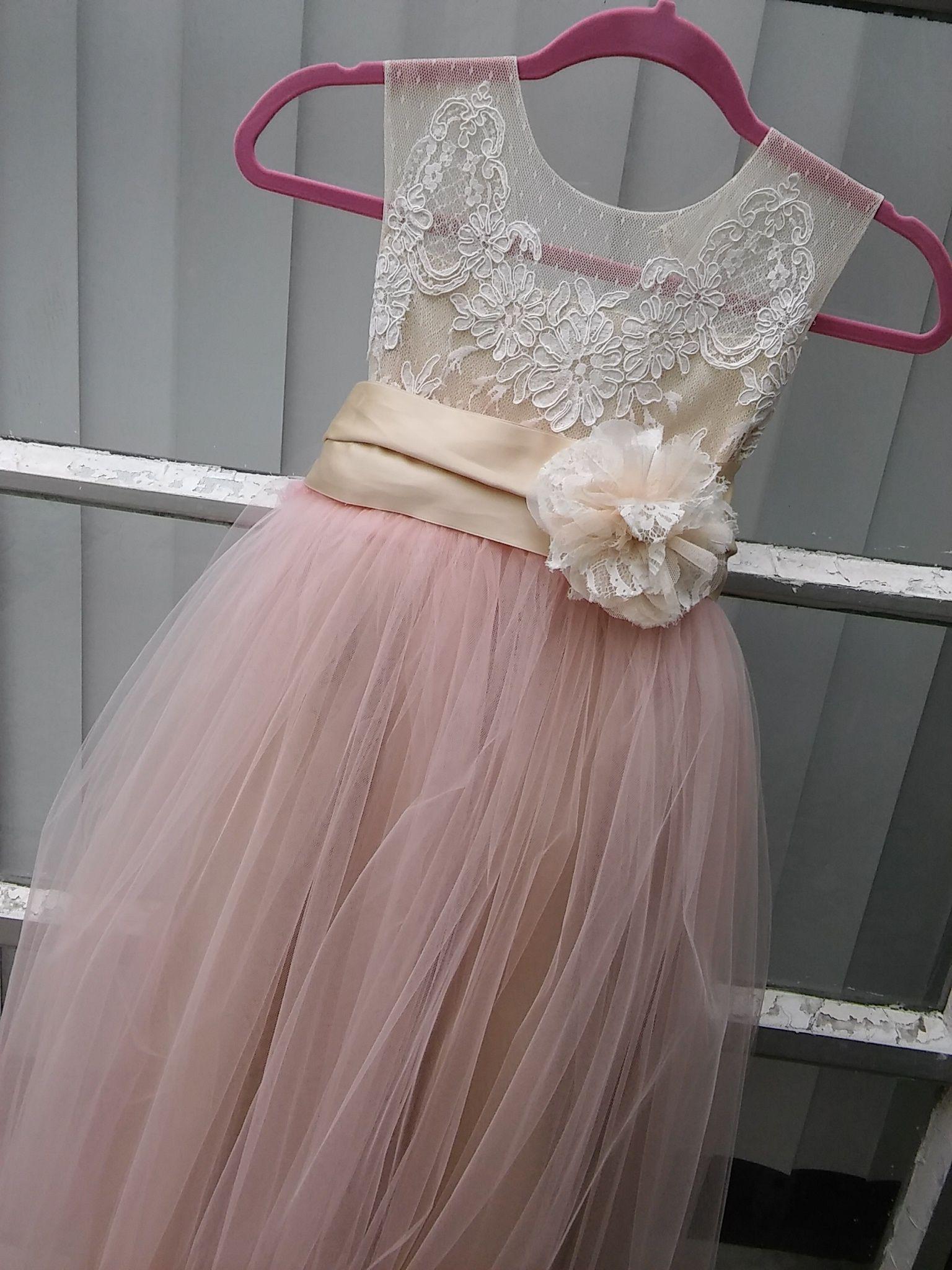 26319b22e68 Blush flowergirl dress  somsicouture