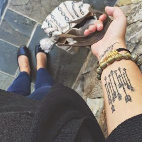 Arrow tattoos to represent children in reference to psalm for Tattoos to represent kids