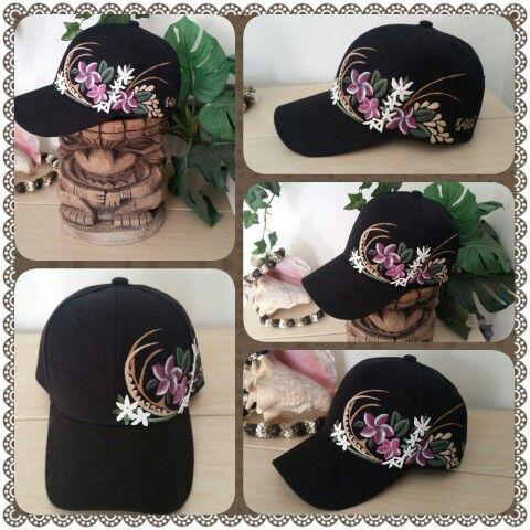 Hawaiian Style Hand Painted Baseball Cap Ladies Painted Hats Hat Embroidery Custom Hats