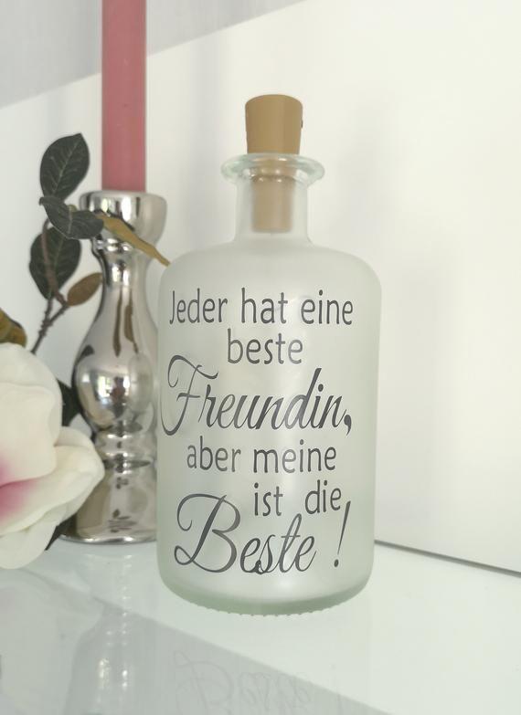 Decorative bottle with lighting BEST FRIENDS LED lamp light bottle Bottlelight fairy lights gift bottle light
