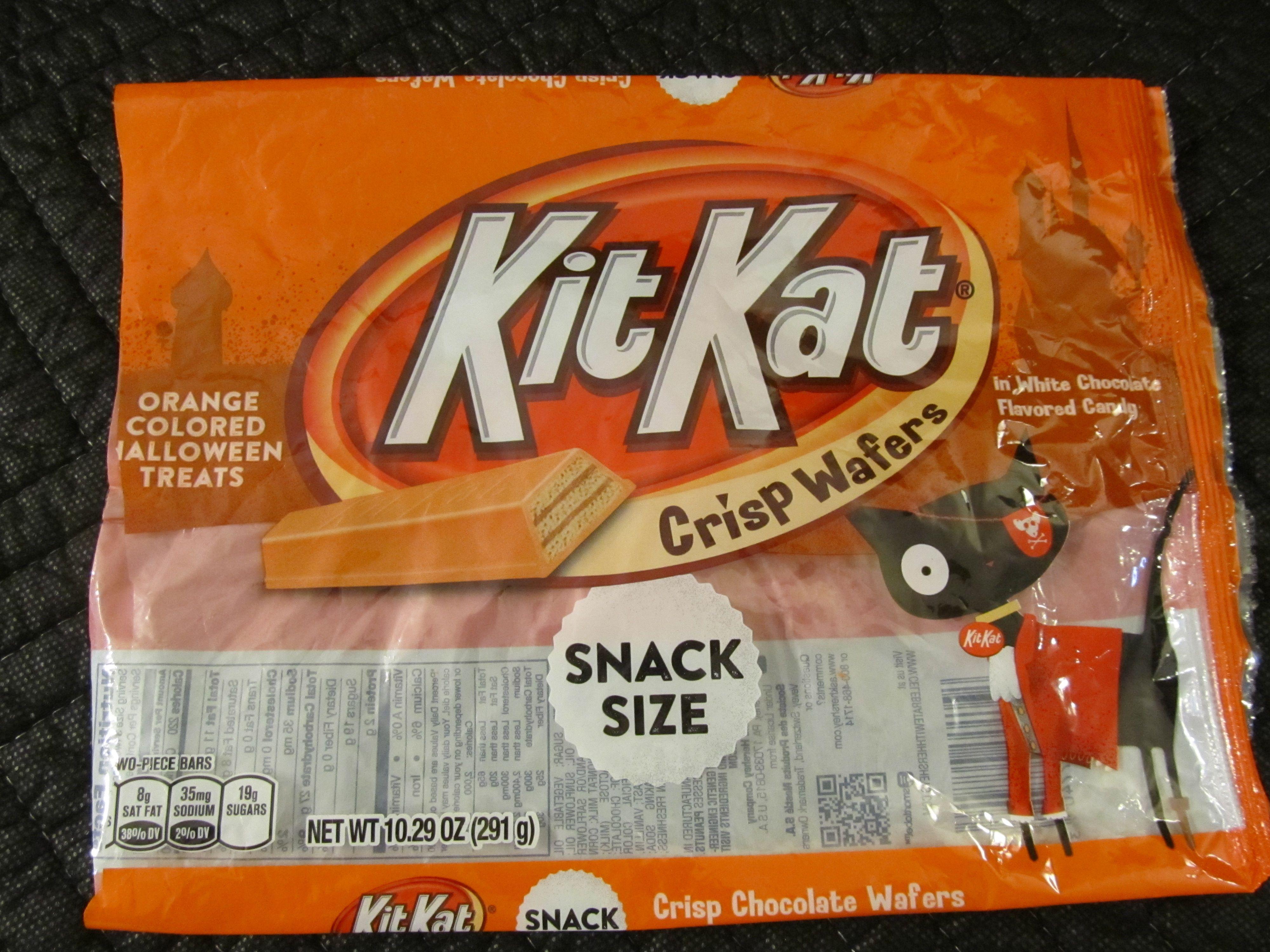 Orange Colored, white chocolate Kit Kat bars, snack size. (Bag ...