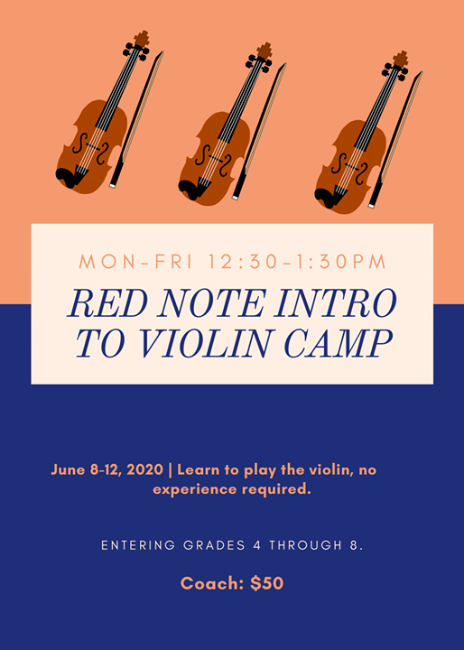 Come Learn How To Play The Violin At The Red Note Intro To Violin