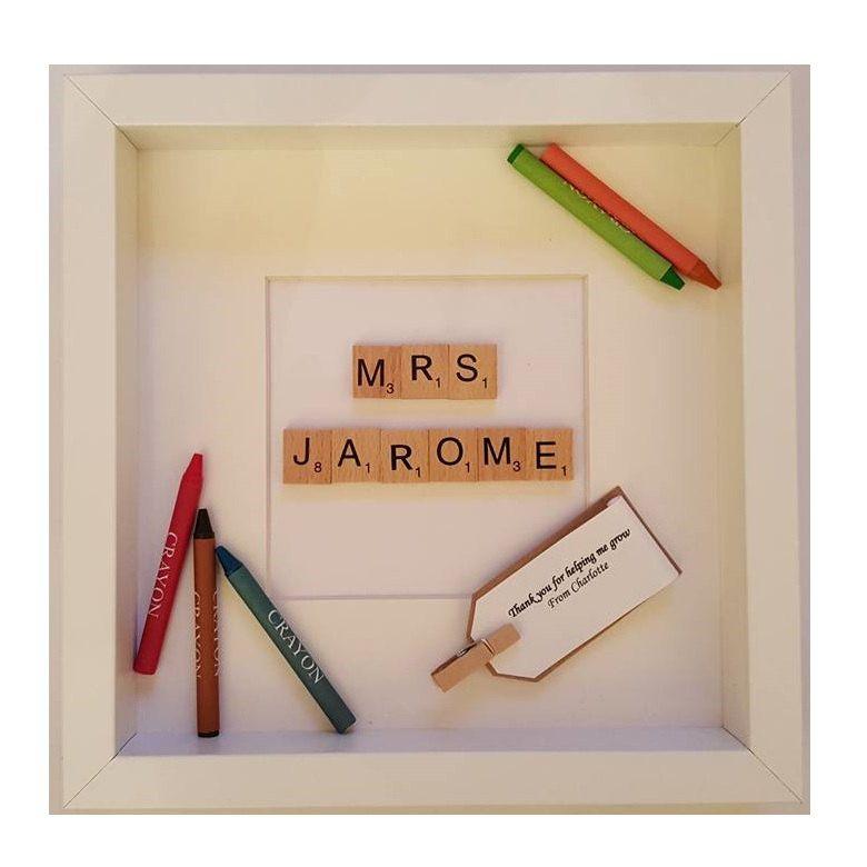 Teacher frame gift white black boxed frame by PersonalTouchGiftsUK ...