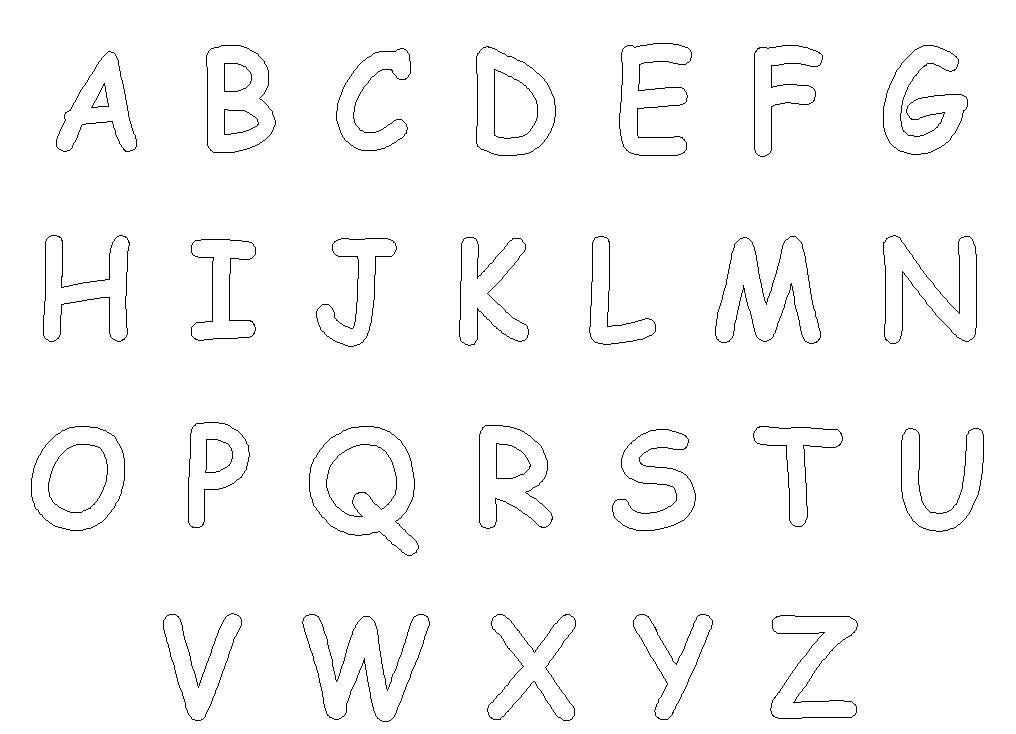 Printable Letter Patterns for Applique | Alphabet letters ...