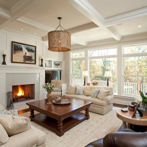 Room redo: Cozy family room with fireplace images