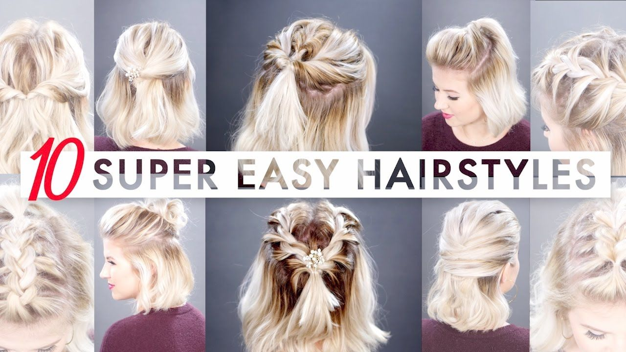 10 Easy Half Up Hairstyles For Short Hair Milabu Short Hair Tutorial Half Up Hair Hair Tutorial