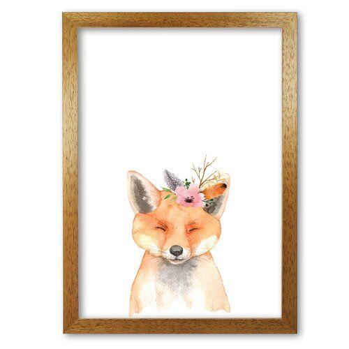 East Urban Home Poster Waldfreunde, Fuchs mit Blumen | Wayfair.de #cutefox