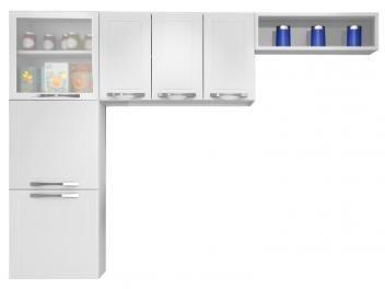 Cozinha Compacta Casamob City Com Vidro 4 Portas Em Aco