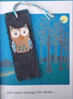 Felt Owl Bookmark by MoonbeamsMuchness on Etsy, $4.00