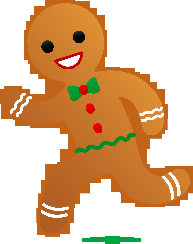 Gingerbread Man Running Clip Art Sweet Clip Art Christmas Images Clip Art Gingerbread Man Decorations Christmas Clipart Free