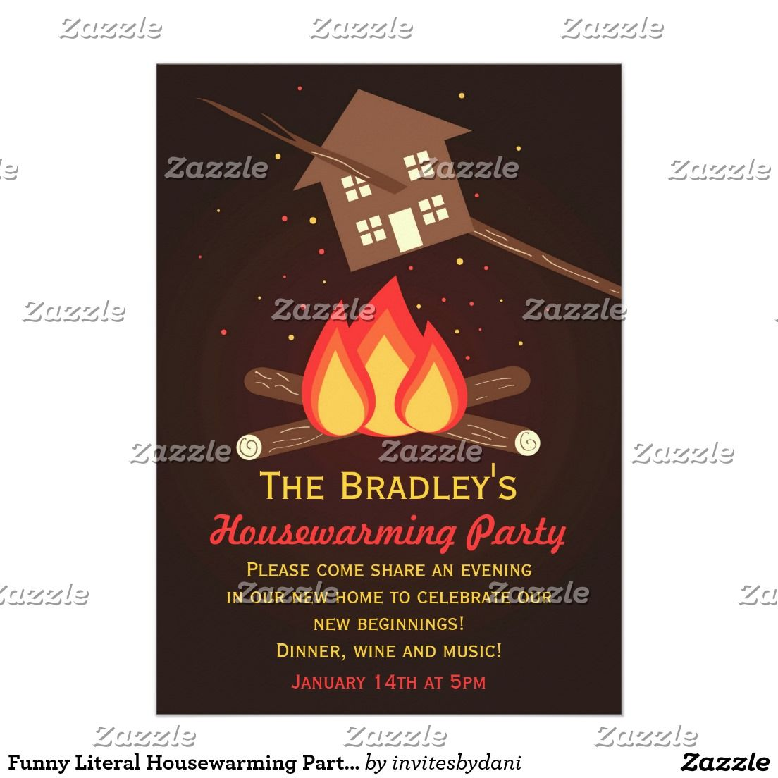 Funny Literal Housewarming Party Invitations | Housewarming Party ...
