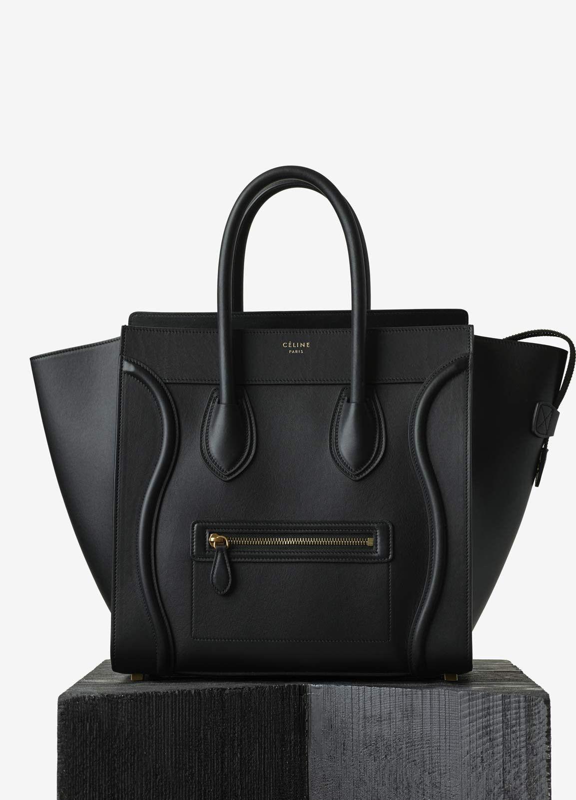 Mini Luggage Handbag in Smooth Calfskin - Céline   Bags I Can t ... 558f7e9120