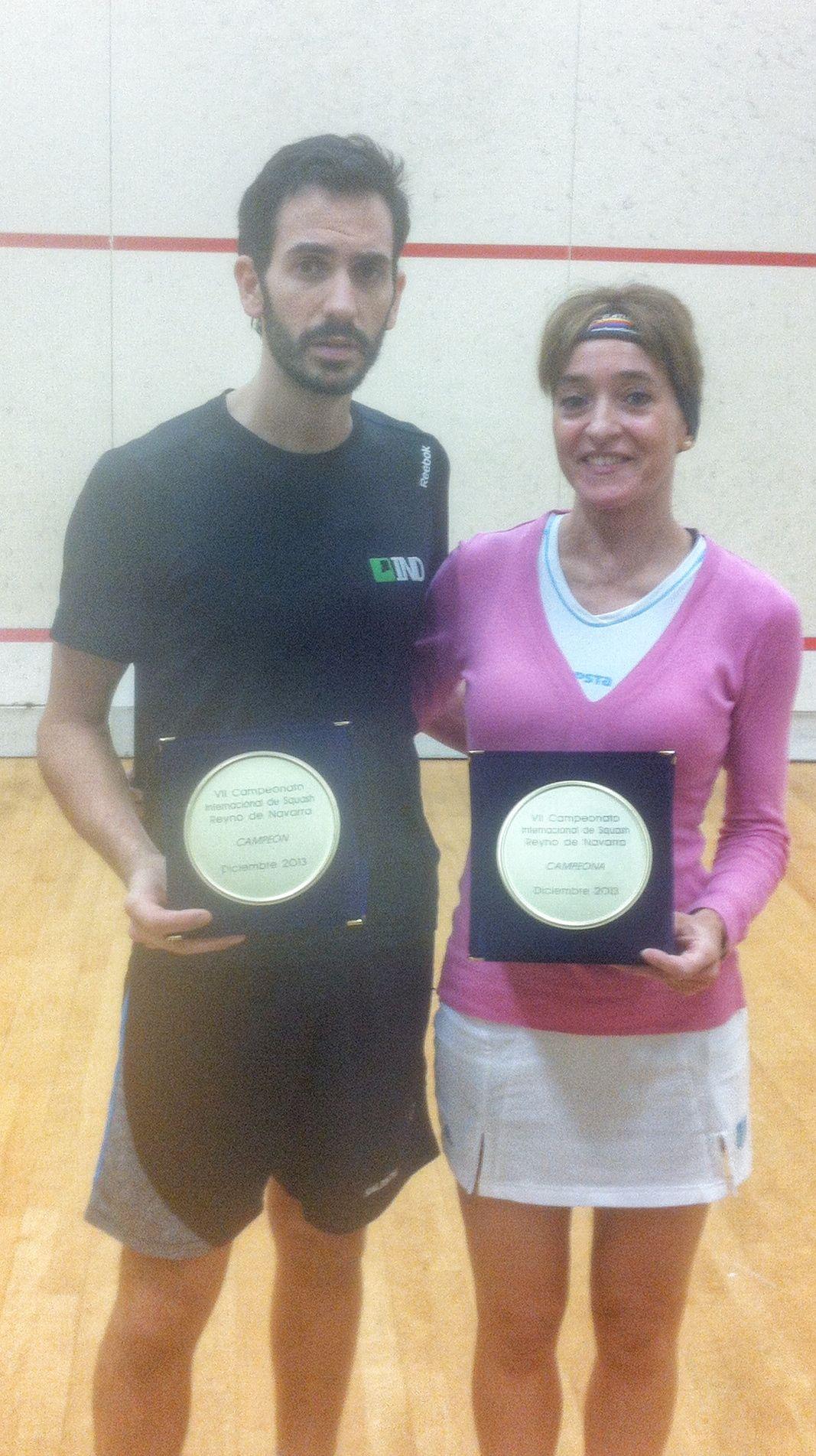 Álex Garbí y Rosa Ándres Campeones del VII Torneo Reyno de Navarra disputado en  la A.D. San Juan.