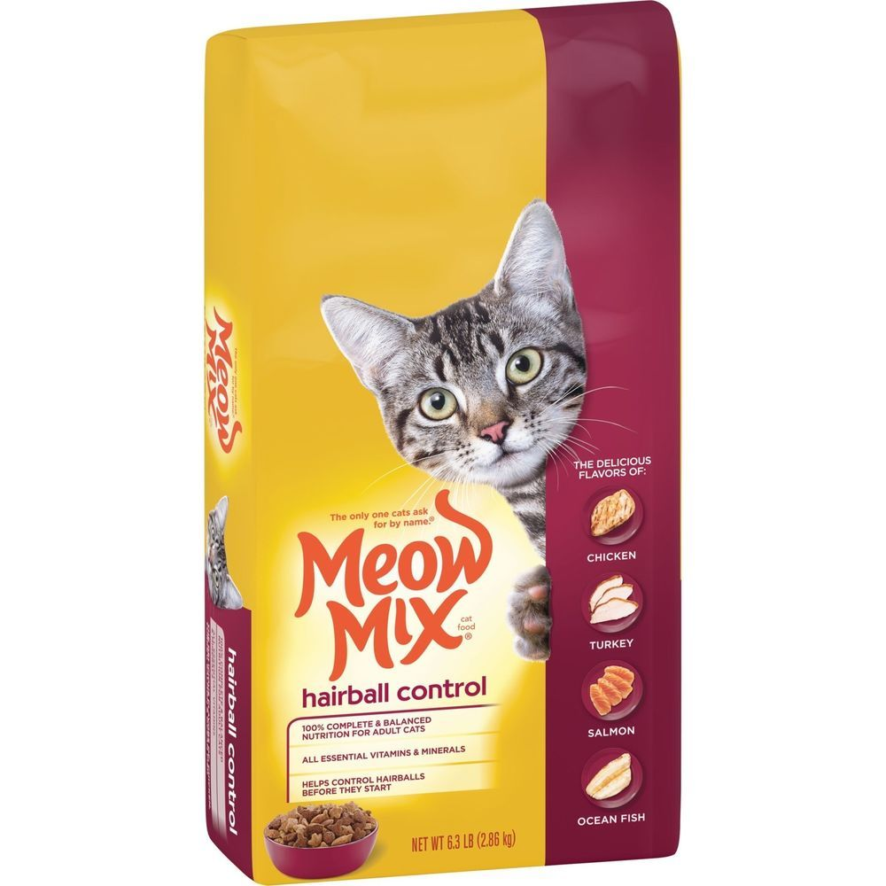 Meow Mix Hairball Control Cat Food 6 3 Pound Meowmix Dry Cat Food Cat Food Cat Food Coupons