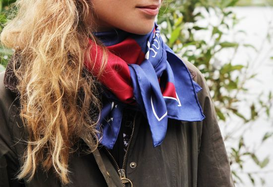 #silk scarf and #barbour
