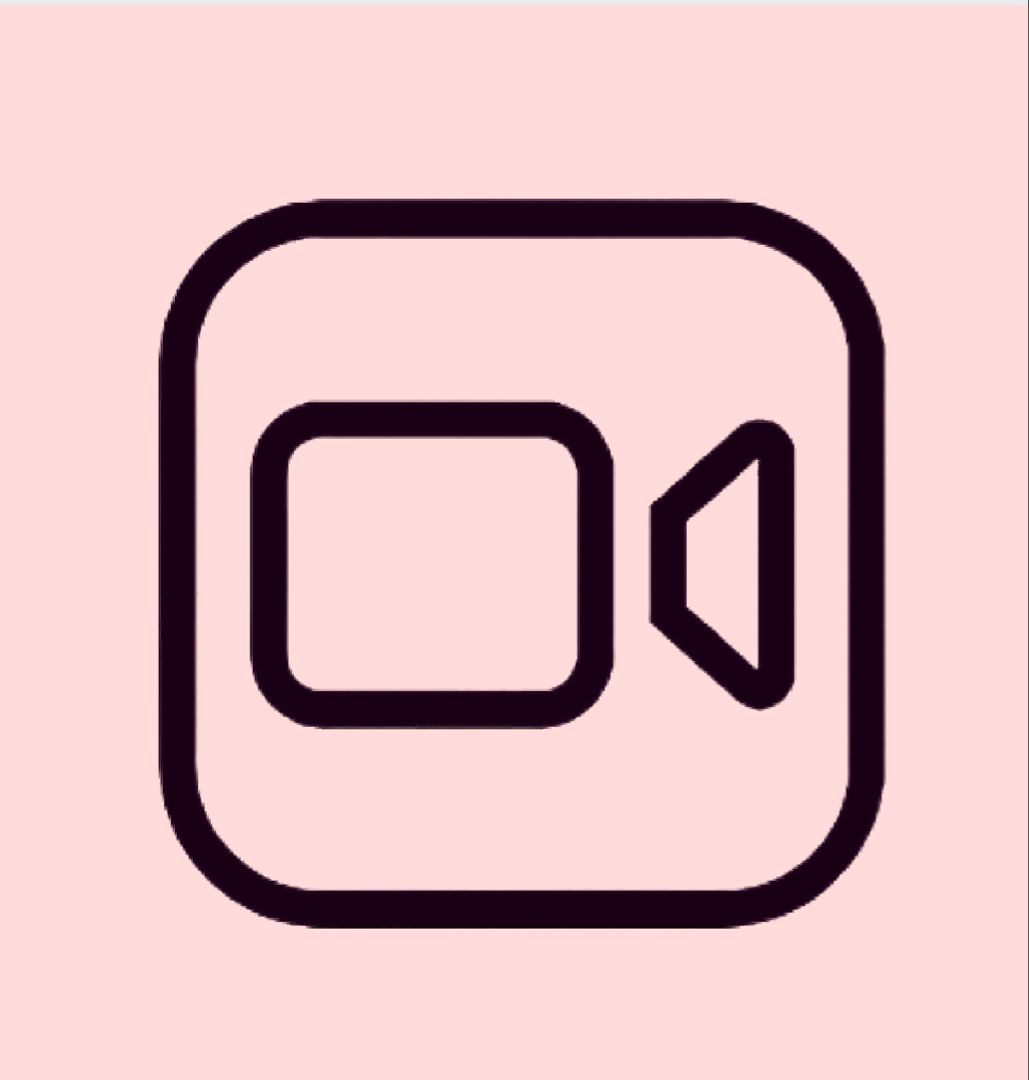 Aesthetic Facetime Icon