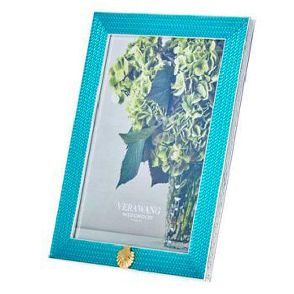Vera Wang Wedgwood With Love Treasures Aqua Seashell 4 X 6 Picture