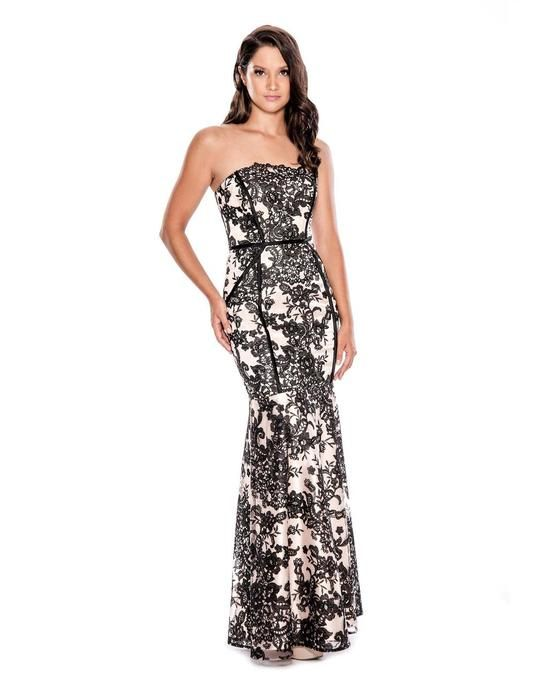 0acbdd6bd9 Buy the Strapless Floral Long Dress 183317 by Decode 1.8 at  CoutureCandy.com