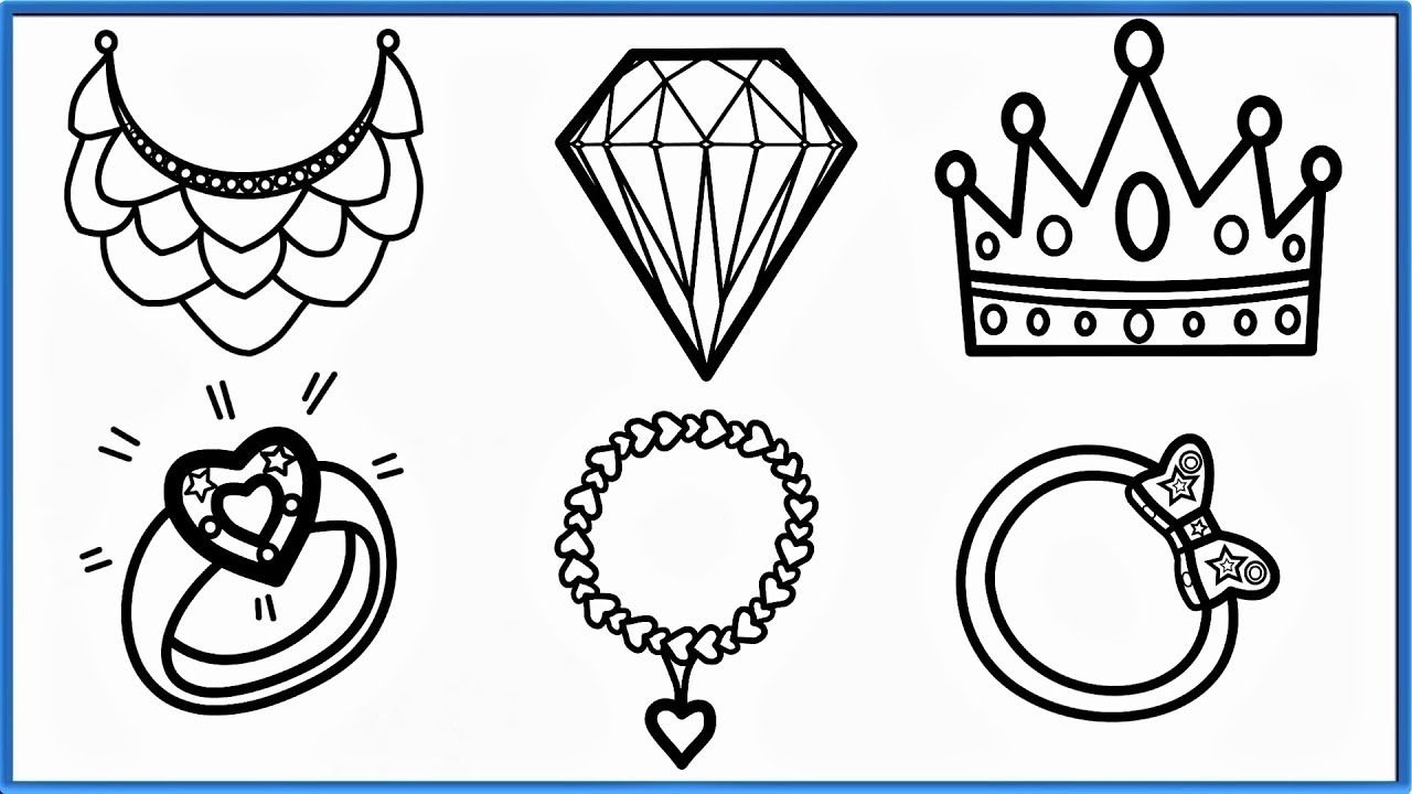 Jewelry Coloring Pages Jabn How To Draw Jewelry Coloring Pages For