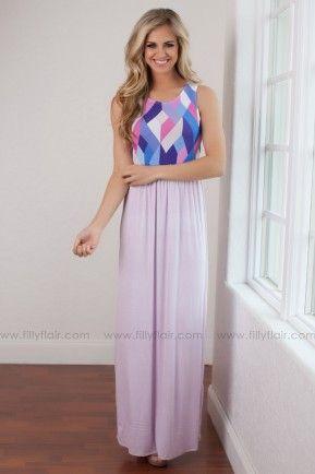 Kaleidoscope Dreams Maxi Dress in Lavender