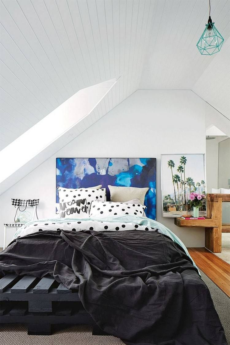 20 Dachschräge Ideen   Möbel geschickt im Raum platzieren ...