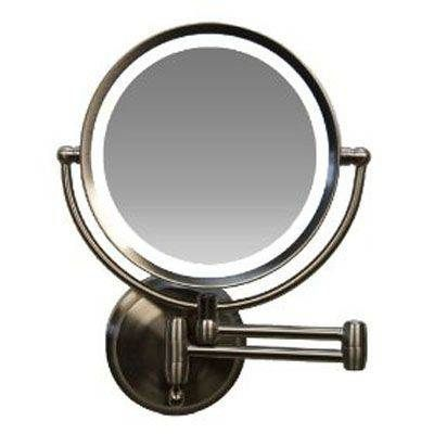 Zadro Bright Led Lighted Luminous Wall Mount Mirror 1x 10x Model No Ledw410 Satin Nickel Wall Mounted Makeup Mirror Wall Mounted Mirror Mirror