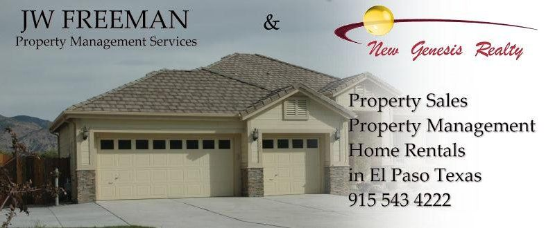 New Genesis Realty John W Freeman Fort Bliss Realty Property Management Military Relocation