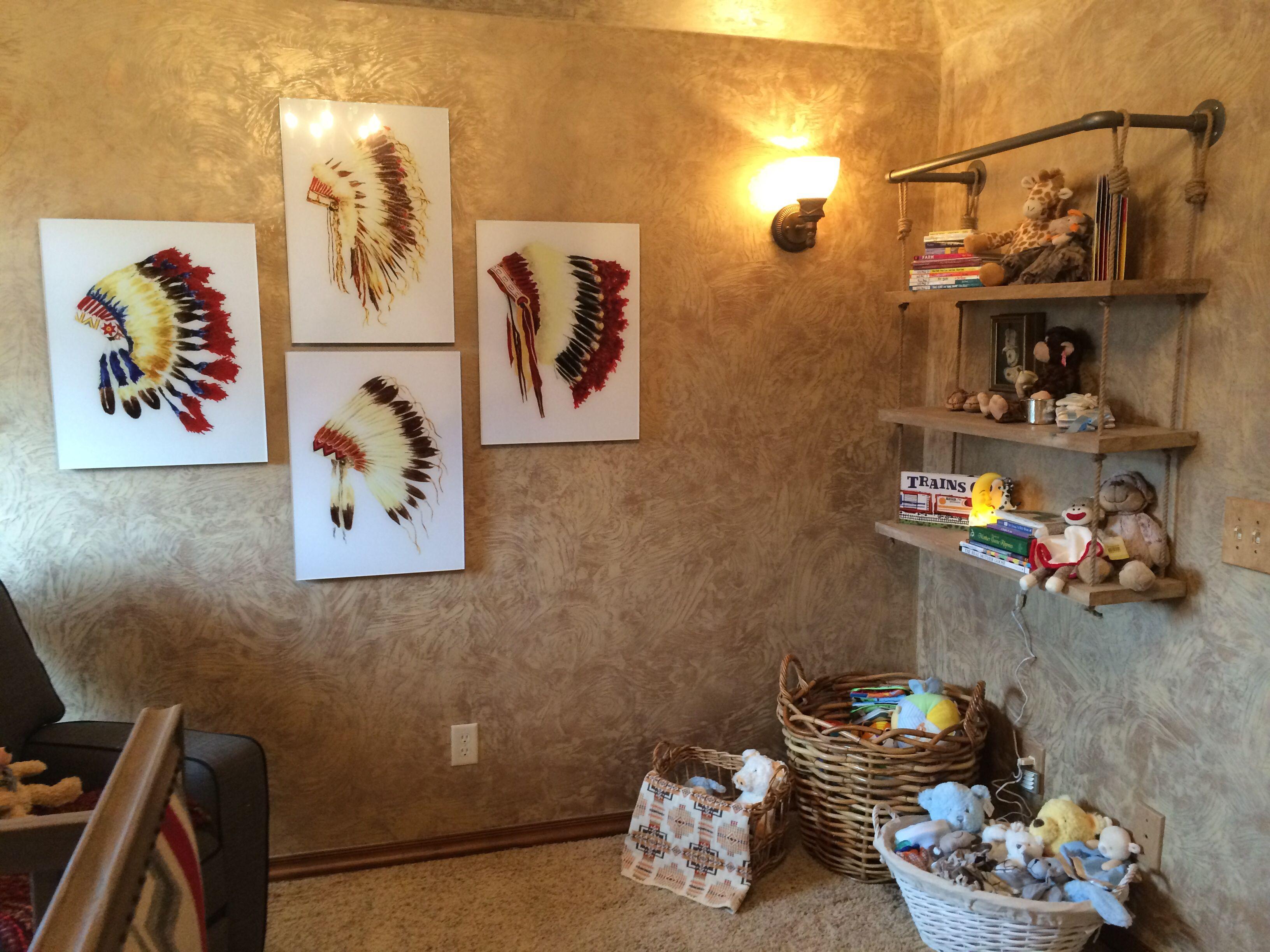 Native American influenced baby nursery by Designer's Brew!
