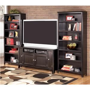 Carlyle 60 Inch Tv Stand 2 Large Bookcases By Ashley Furniture At Colder S And