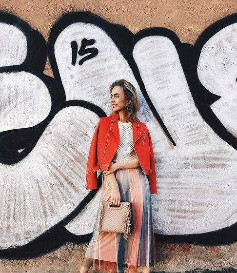 Get this look: http://lb.nu/look/8672559  More looks by Agnija Grigule: http://lb.nu/agnijagrigule  Items in this look:  Maje Leather Jacket, Maje Skirt, Maje Bag   #bohemian #casual #street