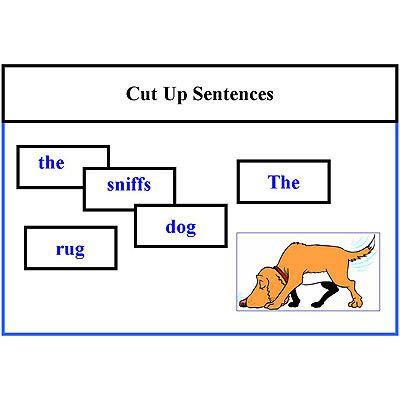 Cut Up Sentences Reading Activity level 1 | Sentences, Activities ...