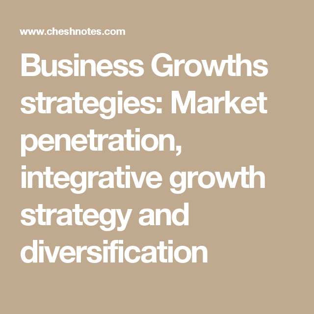 diversification growth strategy