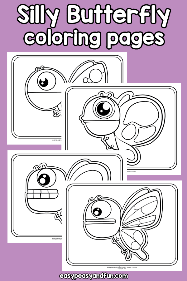 Easter Color By Number Word Butterfly Coloring Page Coloring